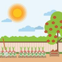 Gemüsegarten-Illustration vektor