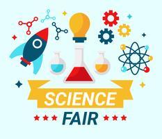 Science Fair-Konzept-Vektor vektor