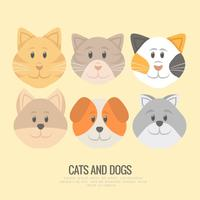Vektorvalpar och kattungar