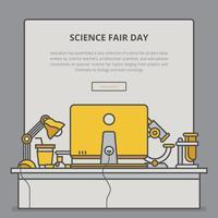 Science Fair und Innovation Expo Vorlage vektor