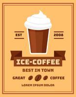 iced kaffeaffisch vektor