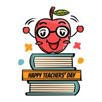 Apple-Gruß-Lehrer-Tag vektor