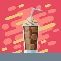 Eiskaffee-Illustrations-Vektor