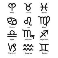 Tierkreis- und astrologische Symbole vektor