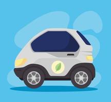 elbil, miljövänligt koncept vektor