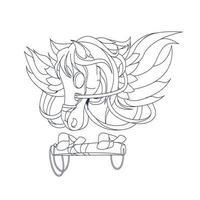 Vektor Hand gezeichnete Illustration von Pegasus