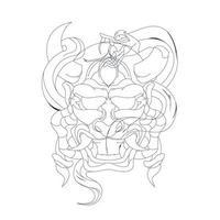 vektor handritad illustration av satan orm