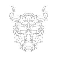 vektor handritad illustration av demon