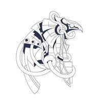 Horus Ägypten Färbung Illustration Kunstwerk vektor