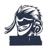 Ninja Ingking Illustration Kunstwerk vektor