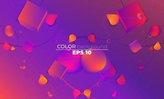 kreative geometrische Tapete. trendige Farbverlaufsformen Komposition