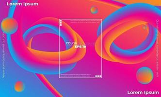 kreative geometrische Tapete. trendiger Flüssigkeitsströmungsgradient formt Zusammensetzung. Visual Supply Company Hintergrund für Geschenkkarte, Poster an der Wand Poster Vorlage, Landing Page, UI, UX, Coverbook, Baner,