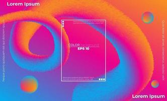 kreative geometrische Tapete. trendige Farbverlaufsformen Komposition vektor