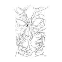 vektor handritad illustration av satankatt