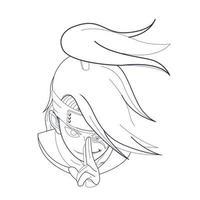 Vektor Hand gezeichnete Illustration von Menschen Anime