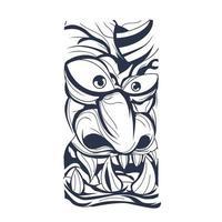Satan Gesicht Tinte Illustration Kunstwerk vektor