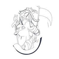 Vektor Hand gezeichnete Illustration der ägyptischen Kultur