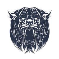 wütender Tiger, der Illustrationsgrafik einfärbt vektor