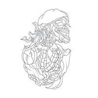 Vektor Hand gezeichnete Illustration von Cepot