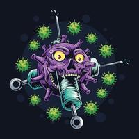 Impfstoff gegen das Koronavirus vektor