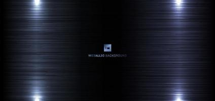 dunkelblaues Metall mit Lichthintergrund und Textur vektor