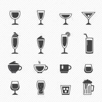 dricka ikoner som illustration vektor