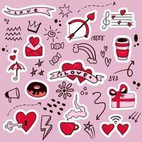 buntes handgezeichnetes Valentinsgrußelement vektor