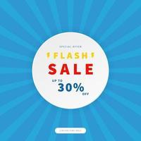 flash försäljning marknadsföring banner. trendig designmall för annonsering, sociala medier, affärer, modeannonser etc. vektorillustration.