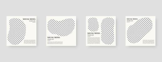 sociala medier mall. trendiga redigerbara sociala medier postmall. mockup isolerad. mall design. vektor illustration.