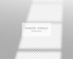 skugga överlag effekt. naturliga skuggor från fönstret isolerade vektor