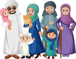 Mitglied der Familienkarikatur auf weißem Hintergrund