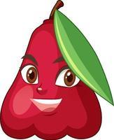 ros apple seriefigur med ansiktsuttryck vektor