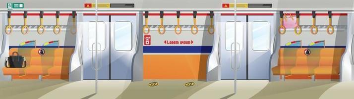 tunnelbana tåg interiör kollektivtrafik, underjordisk livsstil vektorillustration vektor