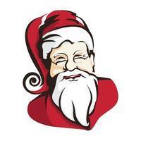 Weihnachtsmann-Grafik, Porträtvektorillustration vektor