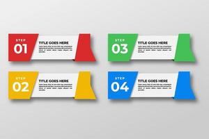 Vorlage für Infografikelemente des Präsentationsgeschäfts. Vektorillustration. kann für Prozess, Präsentationen, Layout, Banner, Infografik verwendet werden. vektor