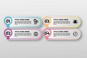 presentation affärs infographic element mall. vektor illustration. kan användas för process, presentationer, layout, banner, infografik.