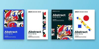 Satz des abstrakten Hintergrunds mit Marmorbeschaffenheit. Farbspritzer. bunte Flüssigkeit. Es kann für Poster, Karten, Broschüren, Einladungen, Deckbücher und Kataloge verwendet werden. Vektorillustration vektor