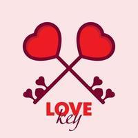 Liebe Schlüssel Valentinstag vektor