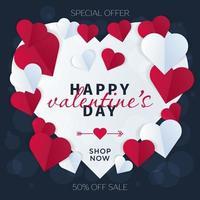 Herz Valentinstag Karte oder Poster