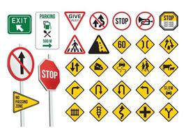 Verkehrszeichen auf Illustrationsgrafikvektor vektor