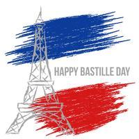 Glücklicher Bastille-Tag vektor