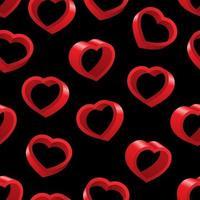 3d hjärta sömlösa mönster vektor