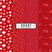 hjärta sömlösa mönster set vektor