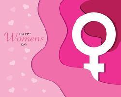 Frauentag Papierart Vorlage Vektor