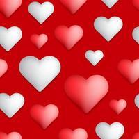 hjärta formar sömlösa mönster vektor