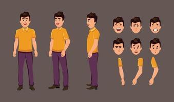 seriefigur för rörelse design eller animering. karaktär vänd för karaktär animering vektor