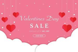 Valentinstag Hintergrund Verkauf Vektor