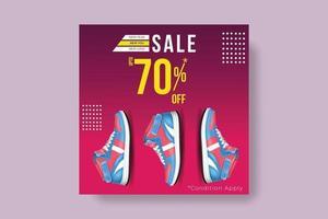redigerbar fyrkantig banner mall för annons. lämplig för sociala medier för reklam. vektor