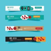 rabatt erbjudande webb banner design