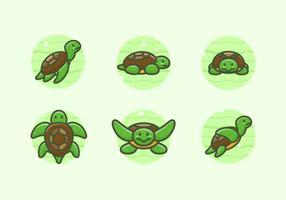 Schildkröten Zeichen Illustrationen